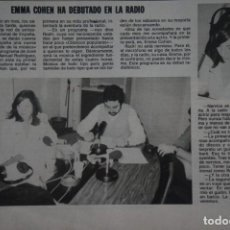 Coleccionismo de Revistas: RECORTE CLIPPING DE EMMA COHEN REVISTA LECTURAS Nº 1562 PAG. 90 L42. Lote 256020360