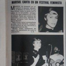 Coleccionismo de Revistas: RECORTE CLIPPING DE MARISOL REVISTA LECTURAS Nº 1562 PAG. 91 L42. Lote 256020570