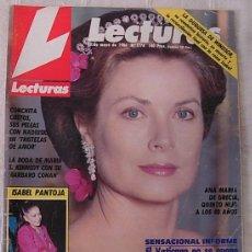 Coleccionismo de Revistas: LECTURAS Nº1778 GRACE KELLY PORTADA + 4 PÁGINAS ISABEL PANTOJA ARNOLD SCHWARZENEGGER 1986 COMPLETA!!. Lote 256114630