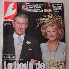 Coleccionismo de Revistas: LECTURAS Nº2769 BODA PRINCIPE CARLOS CAMILLA MUERTE RANIERO DE MONACO PENELOPE CRUZ 2005 EXCELENTE!!. Lote 256116350
