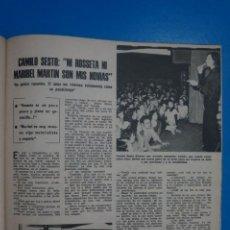 Coleccionismo de Revistas: RECORTE CLIPPING DE CAMILO SESTO REVISTA LECTURAS Nº 1103 PAG. 65 L38. Lote 257438740