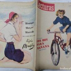 Coleccionismo de Revistas: REVISTA LECTURAS, Nº 296, JUNIO DE 1949. Lote 261799305