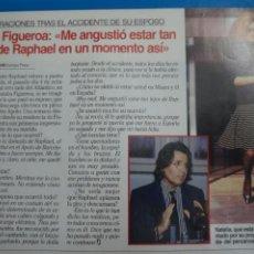 Coleccionismo de Revistas: RECORTE CLIPPING DE NATALIA FIGUEROA Y RAPHAEL LECTURAS Nº 2221 PAG. 84 L45. Lote 262512555