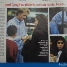 Coleccionismo de Revistas: RECORTE CLIPPING DE JORDI CRUYFF LECTURAS Nº 2221 PAG. 92 L45. Lote 262512770