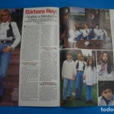 Coleccionismo de Revistas: RECORTE CLIPPING DE BARBARA REY LECTURAS Nº 2221 PAG. 98 Y 99 L45. Lote 262512940