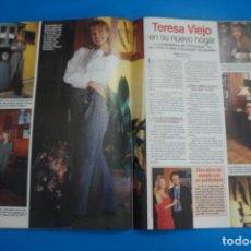 Coleccionismo de Revistas: RECORTE CLIPPING DE TERESA VIEJO LECTURAS Nº 2221 PAG. 104 Y 105 L45. Lote 262513020