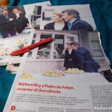 Coleccionismo de Revistas: RECORTE : BARBARA REY CON PEDRO FELIPE. LECTURAS, ENERO 1990(#). Lote 262517375