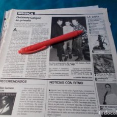 Coleccionismo de Revistas: RECORTE : GABINETE CALIGARI. LECTURAS, ENERO 1990(#). Lote 262517475