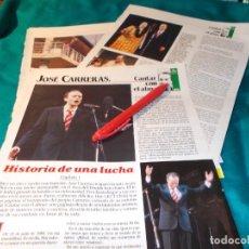 Coleccionismo de Revistas: RECORTE : JOSE CARRERAS, CANTAR CON EL ALMA. CAP. 1. LECTURAS, ENERO 1990(#). Lote 262517580