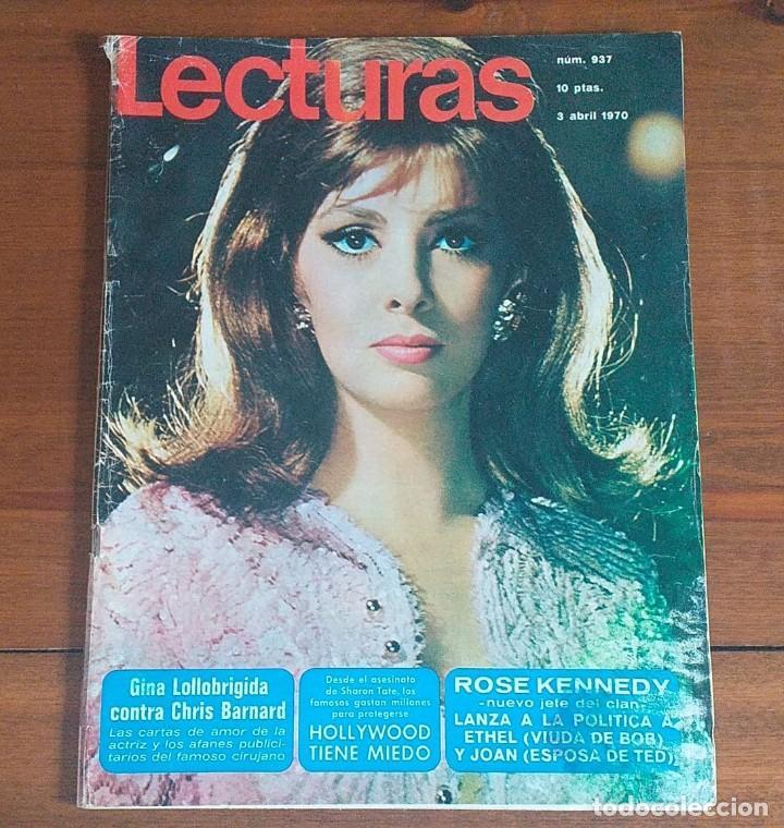 REVISTA LECTURAS Nº 937, 3 ABRIL 1970, 10 PTS, GINA LOLLOBRIGIDA (Coleccionismo - Revistas y Periódicos Modernos (a partir de 1.940) - Revista Lecturas)