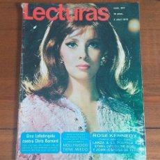 Coleccionismo de Revistas: REVISTA LECTURAS Nº 937, 3 ABRIL 1970, 10 PTS, GINA LOLLOBRIGIDA. Lote 262620205