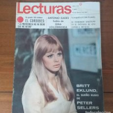 Coleccionismo de Revistas: REVISTA LECTURAS Nº 773, 10 FEBRERO 1967, 7 PTS, BRITT EKLUND. Lote 262630985