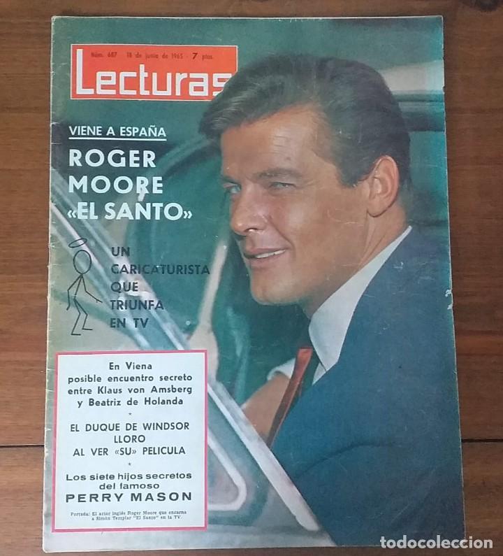 REVISTA LECTURAS Nº 687, 18 JUNIO 1965, 7 PTS, ROGER MOORE (Coleccionismo - Revistas y Periódicos Modernos (a partir de 1.940) - Revista Lecturas)