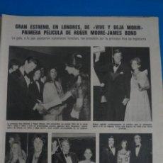 Coleccionismo de Revistas: RECORTE CLIPPING DE ROGER MORE JAMES BOND REVISTA LECTURAS Nº 1109 PAG. 23 L46. Lote 262974135