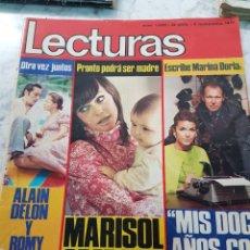 Coleccionismo de Revistas: REVISTA LECTURAS: MARISOL OPERADA , ALAIN DELON, ISABEL PRESLEY 5 NOV 1971. Lote 263623320