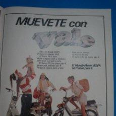 Coleccionismo de Revistas: RECORTE CLIPPING DE MOTO VESPA REVISTA LECTURAS Nº 1517 PAG. 73 L47. Lote 263726505