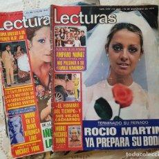 Collectionnisme de Magazines: LOTE 2 REVISTAS LECTURAS AÑO 1973 - CON LOS PÓSTERS CENTRALES. Lote 266521648