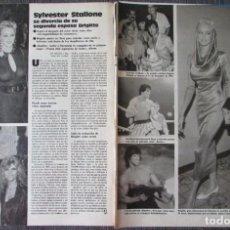 Coleccionismo de Revistas: RECORTE LECTURAS N.º 1842 1987 SYLVESTER STALLONE, BRIGITTE NIELSEN.. Lote 267869204