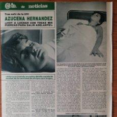 Collectionnisme de Magazines: RECORTE REVISTA HOLA N.º 2204 1986 AZUCENA HERNÁNDEZ. Lote 267881514