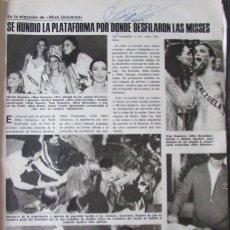 Collectionnisme de Magazines: RECORTE REVISTA LECTURAS N.º 1424 1979 MISS UNIVERSO. MARITZA SAYALERO.. Lote 267897314