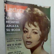 Coleccionismo de Revistas: REVISTA LECTURAS 627 1964 SARA MONTIEL SORAYA IRENE DE HOLANDA JOHN WAYNE SIDNEY POITIER. Lote 268134609