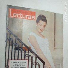 Coleccionismo de Revistas: REVISTA LECTURAS NÚMERO 618 AÑO 1964 CARMEN SEVILLA EL SHA DE PERSIA BALDUINO Y FABIOLA. Lote 268157389