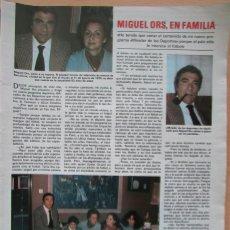 Coleccionismo de Revistas: RECORTE REVISTA LECTURAS N.º 1464 1980 MIGUEL ORS 2 PGS. Lote 270536038