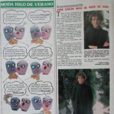 Coleccionismo de Revistas: RECORTE REVISTA LECTURAS N.º 1464 1980 JUAN CARLOS NAYA. Lote 270536118