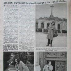 Coleccionismo de Revistas: RECORTE REVISTA LECTURAS N.º 1464 1980 KATHERINE MACGREGOR, VALLE DE LOS CAIDOS. Lote 270536193