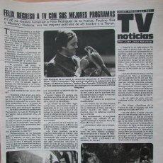 Coleccionismo de Revistas: RECORTE REVISTA LECTURAS N.º 1464 1980 FÉLIX RODRÍGUEZ DE LA FUENTE.. Lote 270536373