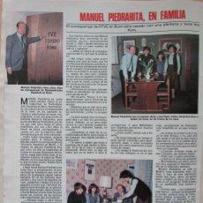 Coleccionismo de Revistas: RECORTE REVISTA LECTURAS N.º 1464 1980 MANUEL PIEDRAHITA. Lote 270536533