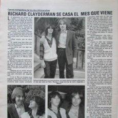 Coleccionismo de Revistas: RECORTE REVISTA LECTURAS N.º 1464 1980 RICHARD CLAYDERMAN. Lote 270537513