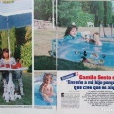 Coleccionismo de Revistas: RECORTE REVISTA LECTURAS N.º 1736 1985 CAMILO SESTO 4 PGS. Lote 270537928