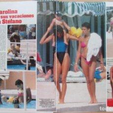 Coleccionismo de Revistas: RECORTE REVISTA LECTURAS N.º 1736 1985 CAROLINA Y ESTEFANÍA DE MÓNACO. 4 PGS. EDUARDO SOTILLOS. Lote 270540718