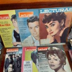 Coleccionismo de Revistas: LOTE DE 6 REVISTAS ANTIGUAS LECTURAS. AÑOS 50/60. EN MUY BUEN ESTADO.. Lote 275754738