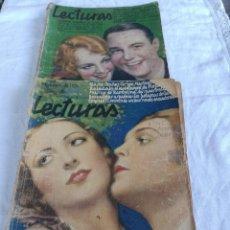 Coleccionismo de Revistas: REVISTAS LECTURAS DE 1930. Lote 276554198