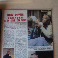 Collectionnisme de Magazines: RECORTE CLIPPING DE GEORGE PEPPARD BANACEK REVISTA LECTURAS Nº 1144 PAG. 49 Y 50 L52. Lote 276995378