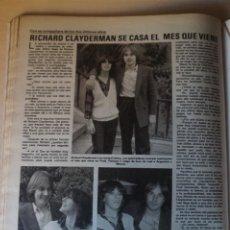 Coleccionismo de Revistas: RECORTE CLIPPING DE RICHARD CLAYDERMAN REVISTA LECTURAS Nº 1464 PAG. 112 L52. Lote 276998168