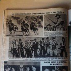 Coleccionismo de Revistas: RECORTE CLIPPING DE LOS CARRADINE REVISTA LECTURAS Nº 1464 PAG. 92 L52. Lote 276998323