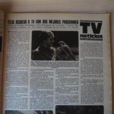 Coleccionismo de Revistas: RECORTE CLIPPING DE FELIX RODRIGUEZ DE LA FUENTE REVISTA LECTURAS Nº 1464 PAG. 41 L52. Lote 276999018