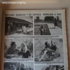 Coleccionismo de Revistas: RECORTE CLIPPING DE MICHAEL DOUGLAS REVISTA LECTURAS Nº 1464 PAG. 19 L52. Lote 276999338