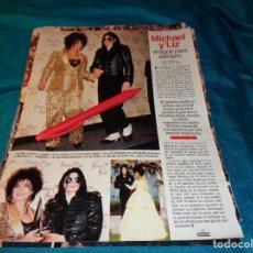Coleccionismo de Revistas: RECORTE : MICHAEL JACKSON Y LIZ TAYLOR, AMIGOS PARA SIEMPRE. LECTURAS, FBRO 1993(#). Lote 277062048