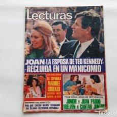 Coleccionismo de Revistas: REVISTA LECTURAS Nº 1156 AÑO 1974 ESPOSA KENNEDY EN MANICOMIO JUNIOR JUAN PARDO POSTER RON ELY. Lote 277075473