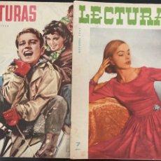Coleccionismo de Revistas: LOTE DE 21 REVISTAS LECTURAS AÑOS 50. Lote 277230373