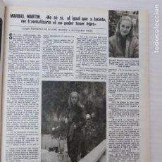 Coleccionismo de Revistas: RECORTE CLIPPING DE MARIBEL MARTIN FORTUNATA Y JACINTA REVISTA LECTURAS Nº 1466 PAG. 33 L53. Lote 277699143