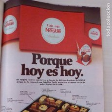 Coleccionismo de Revistas: RECORTE CLIPPING DE ANUNCIO CAJA ROJA NESTLE LECTURAS Nº 1460 PAG. 97 L53. Lote 277702033