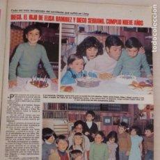Coleccionismo de Revistas: RECORTE CLIPPING DE DIEGO EL HIJO DE ELISA RAMIREZ Y DE DIEGO SERRANO LECTURAS Nº 1460 PAG. 55 L53. Lote 277702788