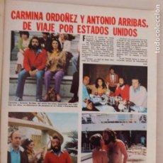 Coleccionismo de Revistas: RECORTE CLIPPING DE CARMINA ORDOÑEZ Y ANTONIO ARRIBAS LECTURAS Nº 1460 PAG. 43 Y 44 L53. Lote 277703648