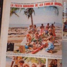 Coleccionismo de Revistas: RECORTE CLIPPING DE LA FAMILIA BRADFORD REVISTA LECTURAS Nº 1460 PAG. 26 Y 27 L53. Lote 277704073