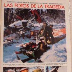 Coleccionismo de Revistas: RECORTE CLIPPING DE LA TRAGEDIA DE RODRIGUEZ DE LA FUENTE REVISTA LECTURAS Nº 1459 PAG. 25 AL 36 L53. Lote 277704743